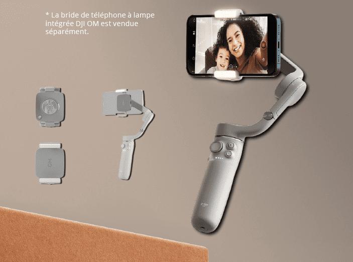Bride magnétique DJI OM 5 (Osmo Mobile) avec lampe intégrée